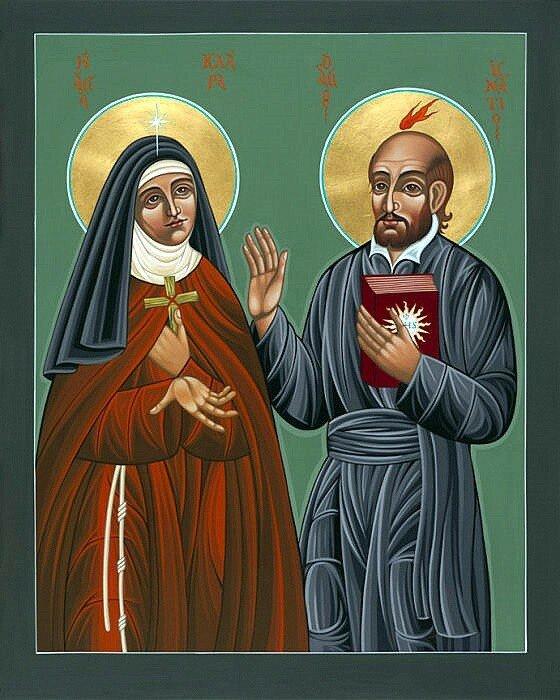 Sainte Claire d'Assise et Saint Ignace de Loyola