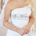 Grand bracelet manche douce pensée et pendentif mariage argenté