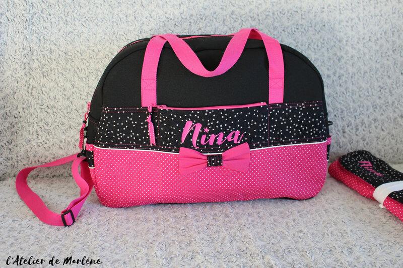 sac a langer personnalisée bébé NINA