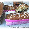 Cake au fromage blanc & griottes - pepites de chocolat