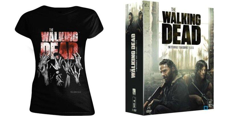 t-shirt-the-walking-dead-blood-femme