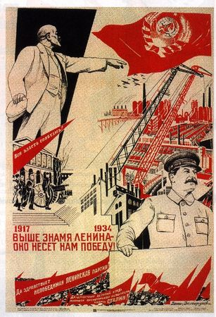 affiche_propagande_L_nine_et_Staline