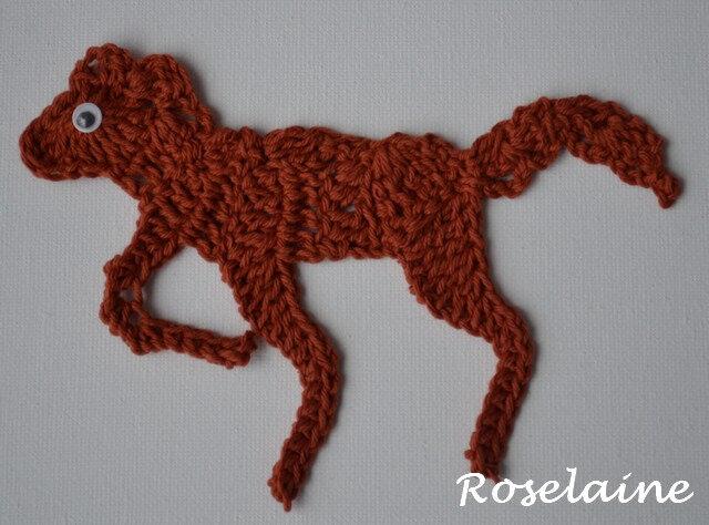 Roselaine applique cheval