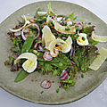 Salade de pois gourmands