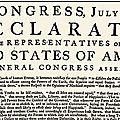Usa 1776 - déclaration d'indépendance