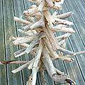 Sapin en bois flotté