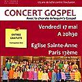 Concert solidaire - vendredi 17 mai 2013 - eglise sainte-anne (75013)
