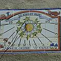 cadran solaire de Joseph Auvray (atelier Acacia Mont-Dauphin)