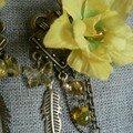 boucles fleurs jaunes