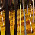 Forêt peinture à l'huile.