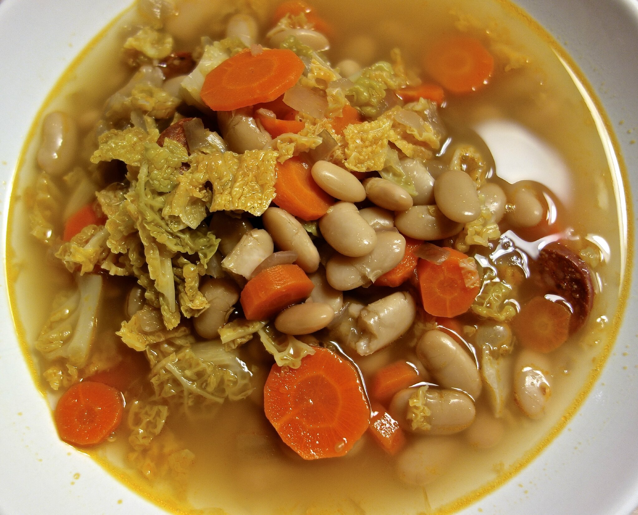 soupe de haricots secs et au chorizo