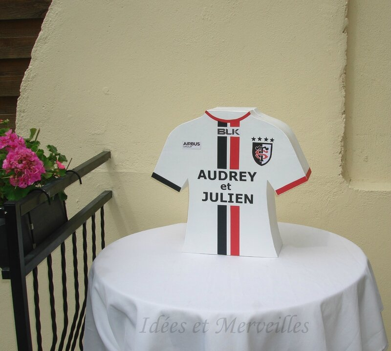 urne rugby maillot stade toulousain - idees et merveilles