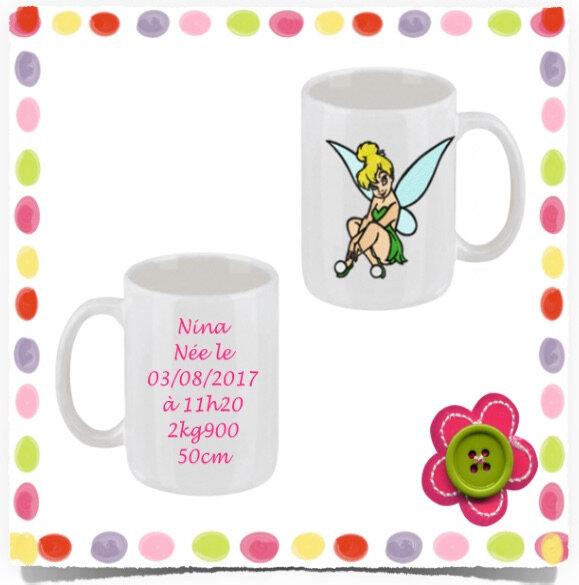 Mug personnalisé souvenir d'enfance FEE ASSISE