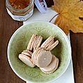 Macarons à la mousse de marron, rhum et confiture de mandarines