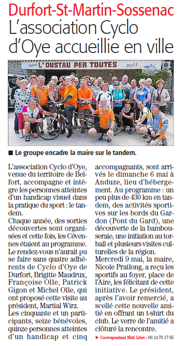 article de presse Anduze