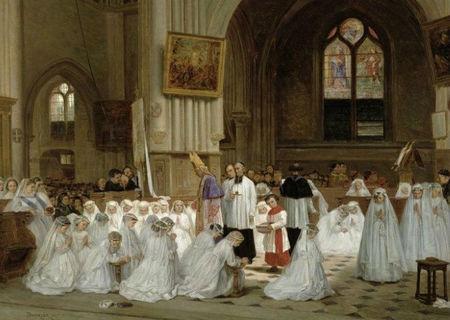 Duverger Theophile Emmanuel 1821-1886 Premiere Communion 1867