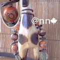 Collier FIMO Afrique marron orange n° 1 (N)