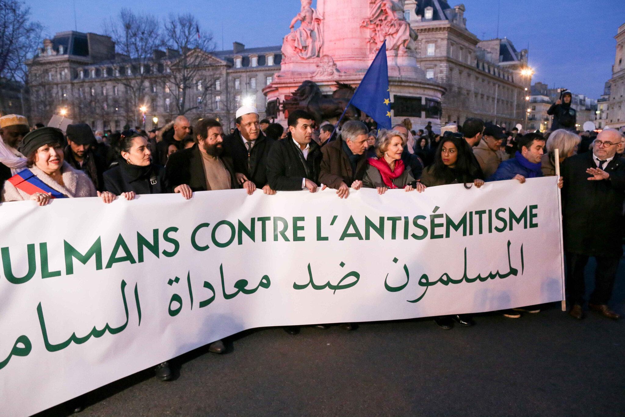 Non à l'antisémitisme : des milliers de personnes place de la République. © Michel Stoupak. Mar 19.02.2019, 18h39m21.
