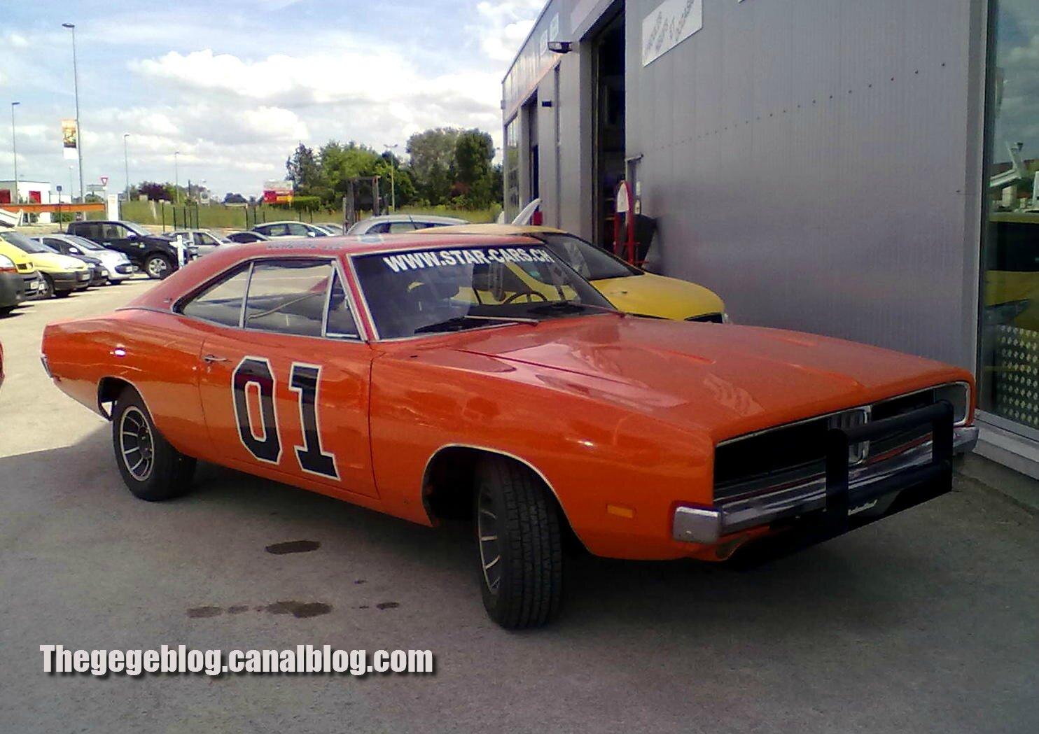 Dodge charger coupé special édition de 1969 general lee (Brienne le chateau) 01