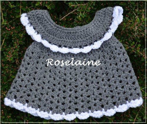 Roselaine196 robe crochet