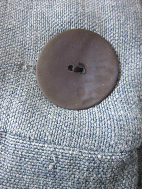 Manteau d'été bicolore en lin jeans et marine (7)