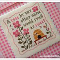 Sweet rose de little house needleworks