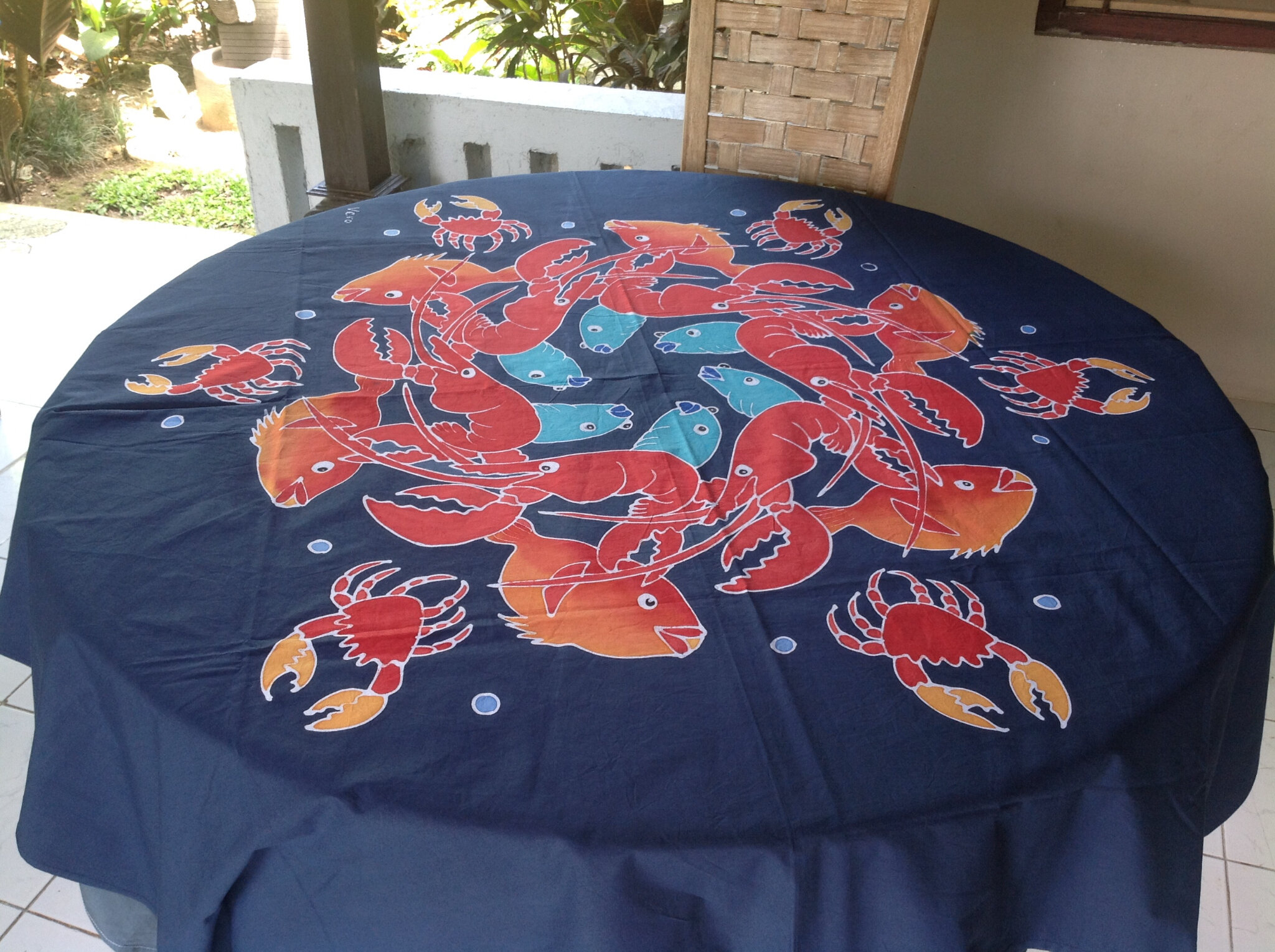 Poissons crabes et homards couleur