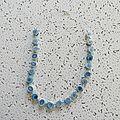 collier spirales bleues 10 €