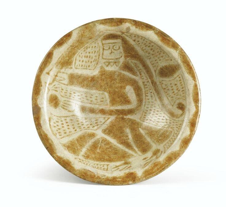 Bol au personnage, Mésopotamie, art abbasside, Xème siècle