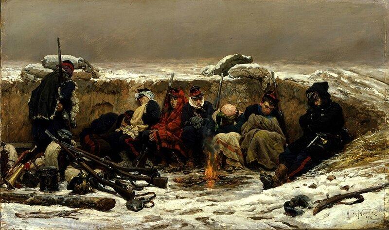 Alphonse de Neuville, dans la tranchée