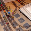 les rails glissent sur le parquet !