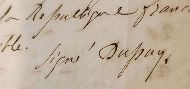 Signature Dupuy