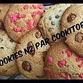 Cookies praline et chouchoux