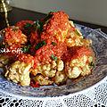 Beignets de chou fleur-brouklou makli et son coulis de tomates