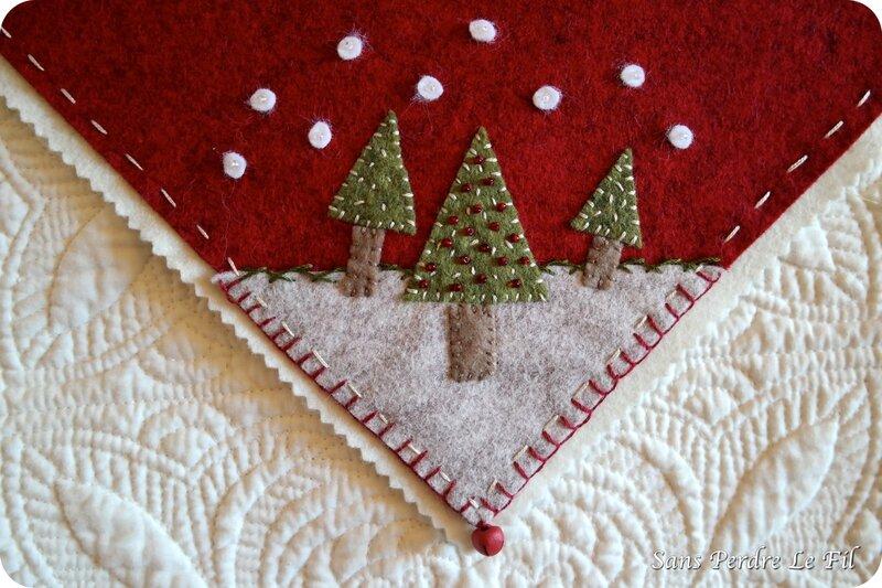 DIY tapis sapins