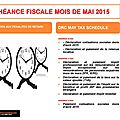 Echeance fiscale mois de mai rd.congo/ dr congo may tax schedule