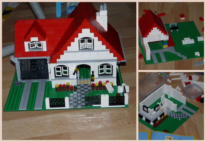 construction de maisons lego minis bricolages 4 mains. Black Bedroom Furniture Sets. Home Design Ideas