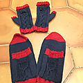 [tricot][sample knitting] mitaines et chaussettes