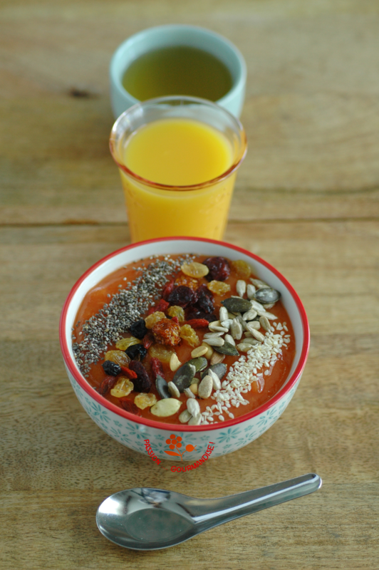 Smoothie bowl papaye & abricot_1