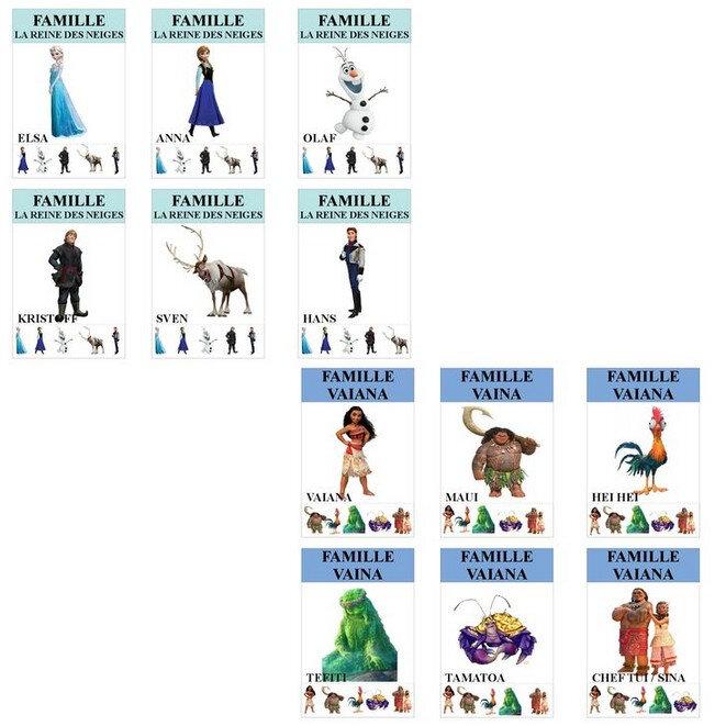7 familles disney