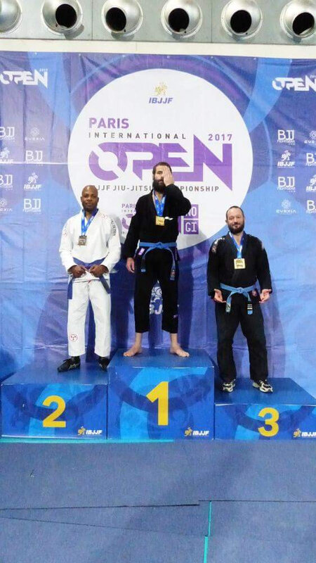Podium IBJJF paris 2017 Nico