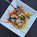 Salade aux saveurs asiatiques
