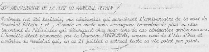 1971 septembre anniversaire mortr de pétain