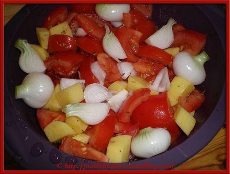 Papillote de pomme de terre-tomate-oignon - 1