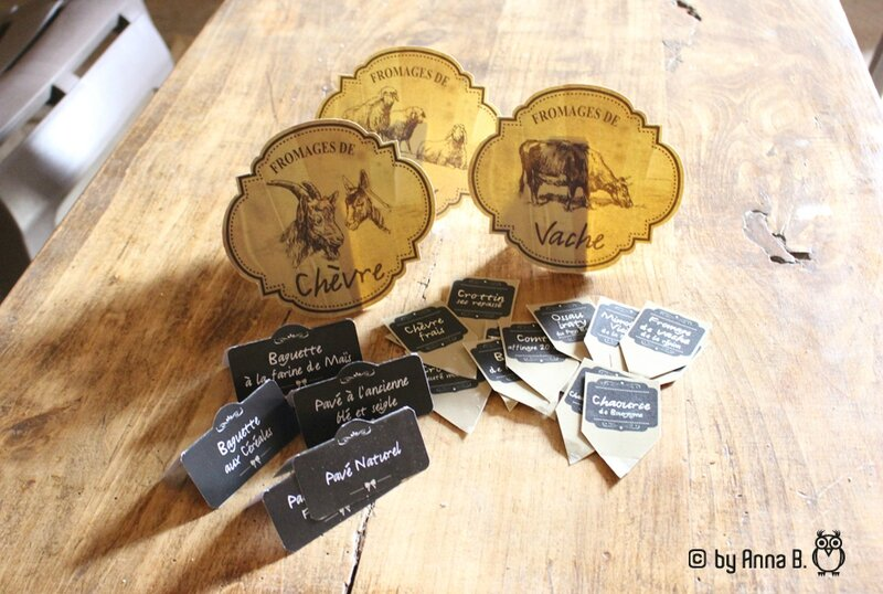 Etiquettes de fromages !