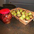 Confiture de figues au thym