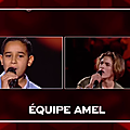 The voice kids, prime 5: premieres battles team amel bent 🥊🥊🥊🎤💜