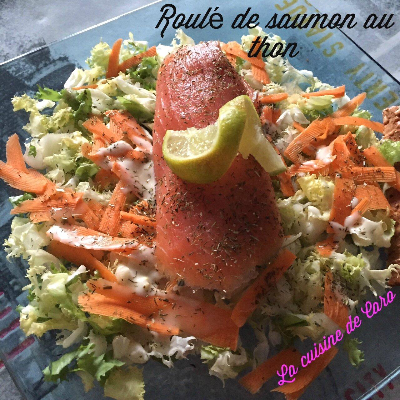 Roulé de saumon fumé au thon