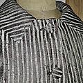 Veste VICTORINE en toile polyester zébré - doublure de satin noire (8)