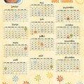 mon calendrier 2008